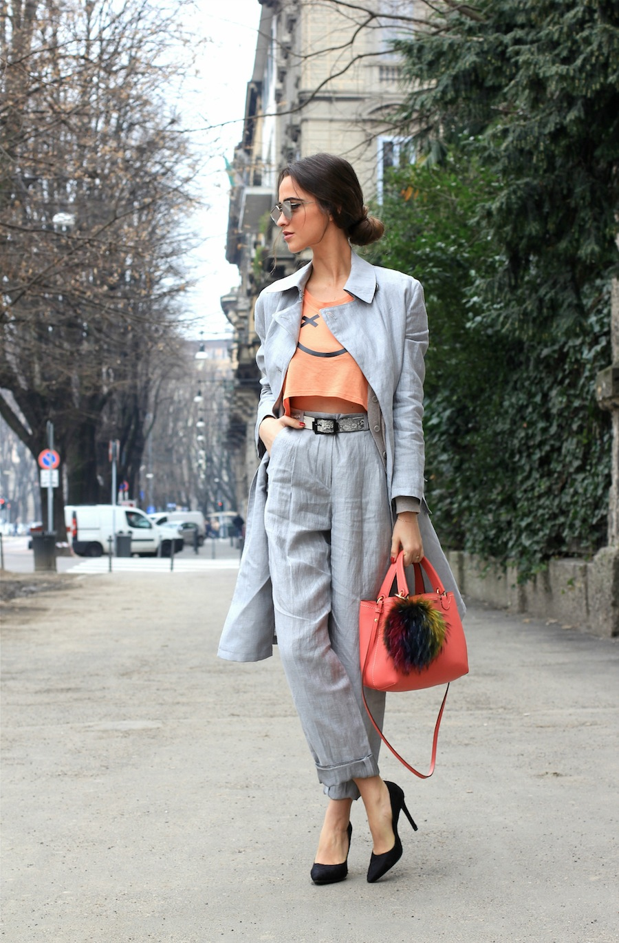 blogger armani street style milan fashion week mode bag jacket influlencer best